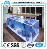 2017 Estilo do tanque de peixes para a decoração do prédio com painel de acrílico transparente