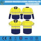 企業の労働者のための反射テープが付いている柔らかいFrのワイシャツ