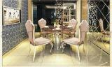 Het Dineren van de Benen van het Roestvrij staal van de Stoel van de Eetkamer van de Armsteun van het Hotel van de luxe Zilveren Stoel