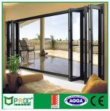 Het zwarte Aluminium die van de Kleur Deuren en Vensters/de Dubbele Deuren van het Glas (PNOCCMD00014) vouwen
