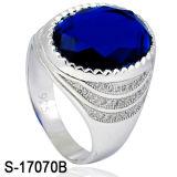 Il diamante d'argento CZ di modo dell'anello 925 dell'uomo squilla