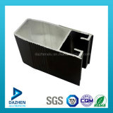 Profil en aluminium d'extrusion de châssis de fenêtre d'enduit de poudre de bonne qualité