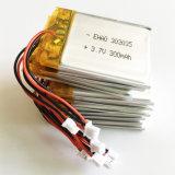 batterie de polymère de lithium de 303035pl 3.7V 300mAh