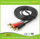 Große Geschwindigkeit 3.5mm zum RCA-Audios-Kabel