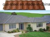 Couvrir la toiture en pierre colorée en métal/tuile de toit Pierre-Enduite en métal