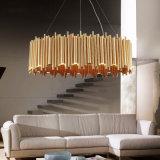 Tubo de Aluminio moderna colgada/Drop o suspensión del círculo de luz LED lámpara colgante