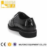 軍隊軍メンズ形式的な本革の偶然の警察の外の靴底の靴