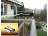 304, câmara de ar entalhada oval do corrimão da escada do aço 316 inoxidável