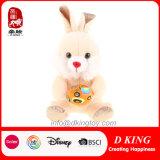 Presentes coloridos de brinquedos de coelho de pelúcia por atacado com ovo