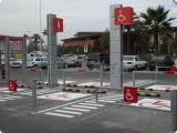 Borracha Reciclada 3 Pés Garagem do Carro Roda Stopper