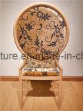 Venta caliente Metal apilable de imitación madera sillas de comedor sillas para banquetes mayorista