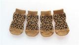 Leopard Sexy Anti-Skid Pattes d'impression de tricotage de chaussettes de PET