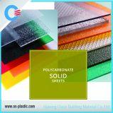 Folha contínua gravada policarbonato do sólido do policarbonato da telhadura da folha do preço de fábrica