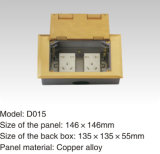 Ronde Legering van het Koper van de Vorm 146*146mm de Elektrische Afzet van de Contactdoos van de Vloer