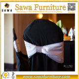 O plissado cora faixa Chiffon da cadeira do laço Chiffon da cadeira para o casamento