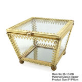 De eenvoudige Doos van de Juwelen van de Opslag van de Juwelen van de Gift van het Glas van de Douane van de Manier Verpakkende