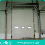 Automatische obenliegende Schnittgarage-Tür mit kleiner Mann-Tür