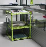 Crémaillère réglable moderne de mémoire de bureau en métal de chrome pour le fichier