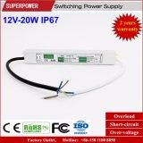Konstante Schaltungs-Stromversorgung IP67 der Spannungs-12V 20W LED wasserdichte