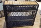 Armadi esterni della mensola della mobilia del rattan