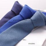 Fournisseur maigre de cravate de la cravate de toile des hommes teints par plaine de mode