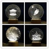 Chiristmas 선물 훈장 관례 3D LED 밤 빛