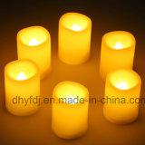 Luz colorida del té de la vela de la decoración LED de la boda
