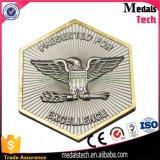 トンコワンOEMの製造業者の大きさのAntoqueの銀製の正方形のカスタム折りえりピン