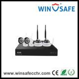4CH NVR домашней беспроводной IP-Bullet WiFi сетевой видеорегистратор комплекты камеры