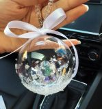 De Tegenhanger van de Kristallen bol van Kerstmis voor Auto (JG680)