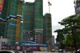 Hydraulischer Aufbau, der toplessen Turmkran aufbaut