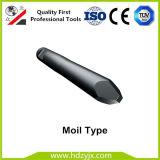Marteau hydraulique burin pour marteau pilon, Type de point de Moil