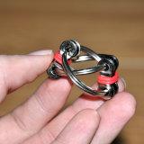Il nuovo filatore della mano dell'anello chiave dell'acciaio inossidabile della catena della bici del giocattolo di irrequietezza di disegno/allevia il giocattolo di sforzo