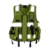 Segurança de Polícia de Trânsito Multi-Pocketed Apparel Melhoria Visibilidade Reflexivo Vest