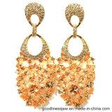 نمو حل يدلّي مجوهرات مع حجارة برتقاليّ إمرأة حل 925 فضة مجوهرات