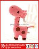 아기 Learing를 위한 귀여운 분홍색 견면 벨벳 지라프 장난감