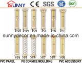 Columna tallada PU romana del diseño de la columna del poliuretano europeo moderno