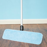 Microfibre Wet Magic Tape Flat Mop Pad (YYFM-010)
