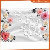 Розовая картина маслом цветка конструкции 3D Rose для домашнего украшения