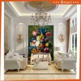 Тип напечатанный таможней красивейшая картина холстины цветков для домашнего украшения