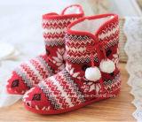 [أم] عالة يحبك نساء شتاء داخليّة أحذية جزمة جوابات