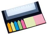 De kleurrijke Kleverige Houder van het Memorandum van het Document in het Vakje van Pu