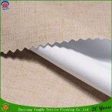 Tela de lino de la cortina de ventana del franco de la capa de la tela de la cortina del apagón del poliester de Woen para el hotel