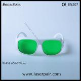Rhp-2 transmitância de luz visível 30% 600-700nm óculos de segurança do laser para os lasers vermelhos, Ruby Atender marcação EN207