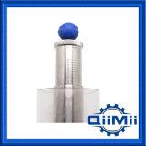 Medidas sanitarias de acero inoxidable SS304 Válvula de descarga de aire con el manómetro