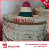 Chapéu de palha de Sombrero de verão México com POM POM