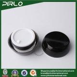 30g 1ozのアクリルのプラスチッククリーム色の瓶の黒カラー手のクリームの顔のクリーム色の容器のアクリルの空の装飾的なプラスチック瓶