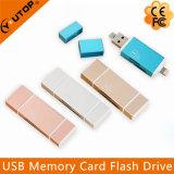 2 in 1 MetallMicrosd (TF) +SD OTG Kartenleser für Smartphone (YT-R004)