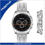 新製品のシリコーンストラップのタキメーターのスポーツの腕時計