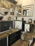 Cadre miroir mural biseauté en finition bois naturel pour meubles d'habitation